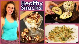 Healthy Snacks & Weight Loss Tips!! 5 Snack Recipes, High Protein, Nutrition, Vegetarian Food