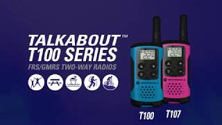Motorola walkie talkies -Motorola T100 Talkabout Radio, 2 Pack