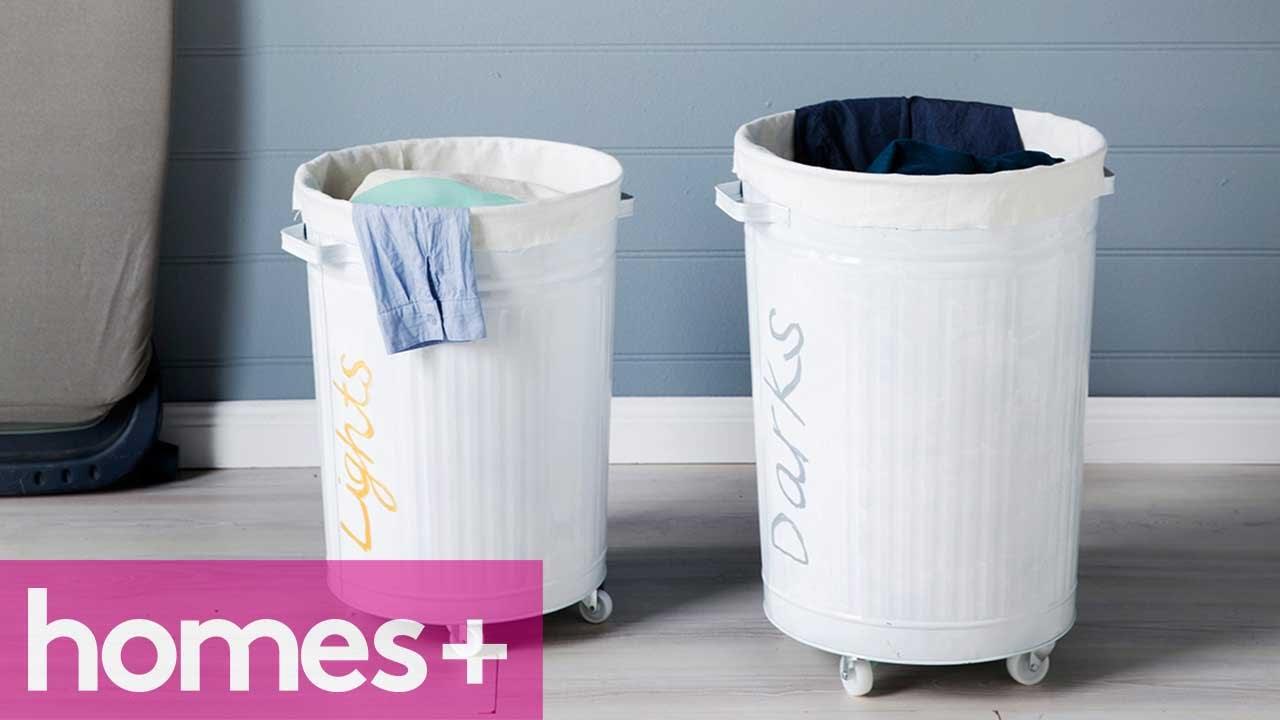 Diy project laundry basket homes youtube diy project laundry basket homes solutioingenieria Choice Image
