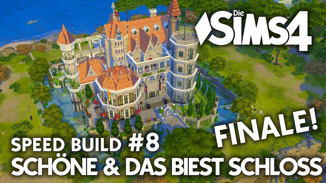 Schloss bauen in Die Sims 4 🌹 Speed Build #8 Die Schöne & das ...