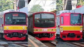 Nonton Kereta Api KRL di Stasiun Universitas Indonesia, Ada JR 205 Marchen !!