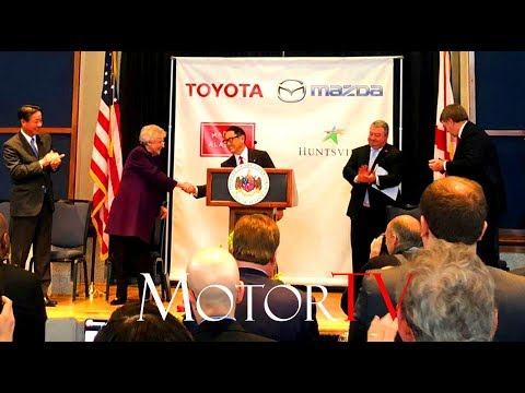CAR FACTORY : TOYOTA AND MAZDA'S NEW U.S. JOINT VENTURE PLANT (2021) l Press Conference (ENG)