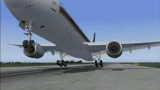 FS2004 Boeing 777-300 Singapore Airlines Changi - Munich