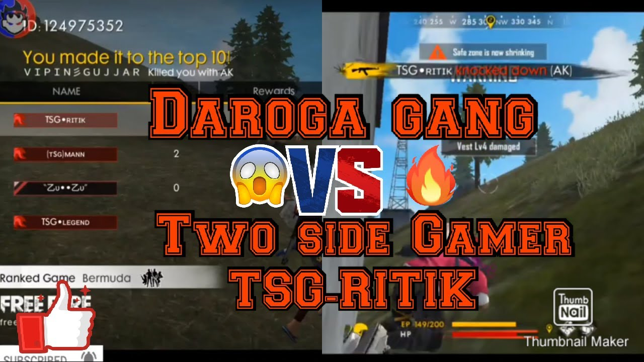| TWO SIDE GAMER Vs Daroga Gang | fighting gameplay between both team