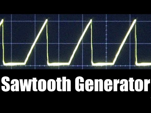 Sawtooth Wave Generator - Using NPN Transistor and Capacitor