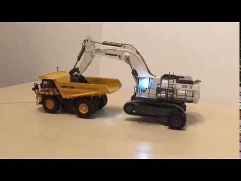 [RC] HK Liebherr R9100 scale 1/50 with Sleipner system - radio controlled