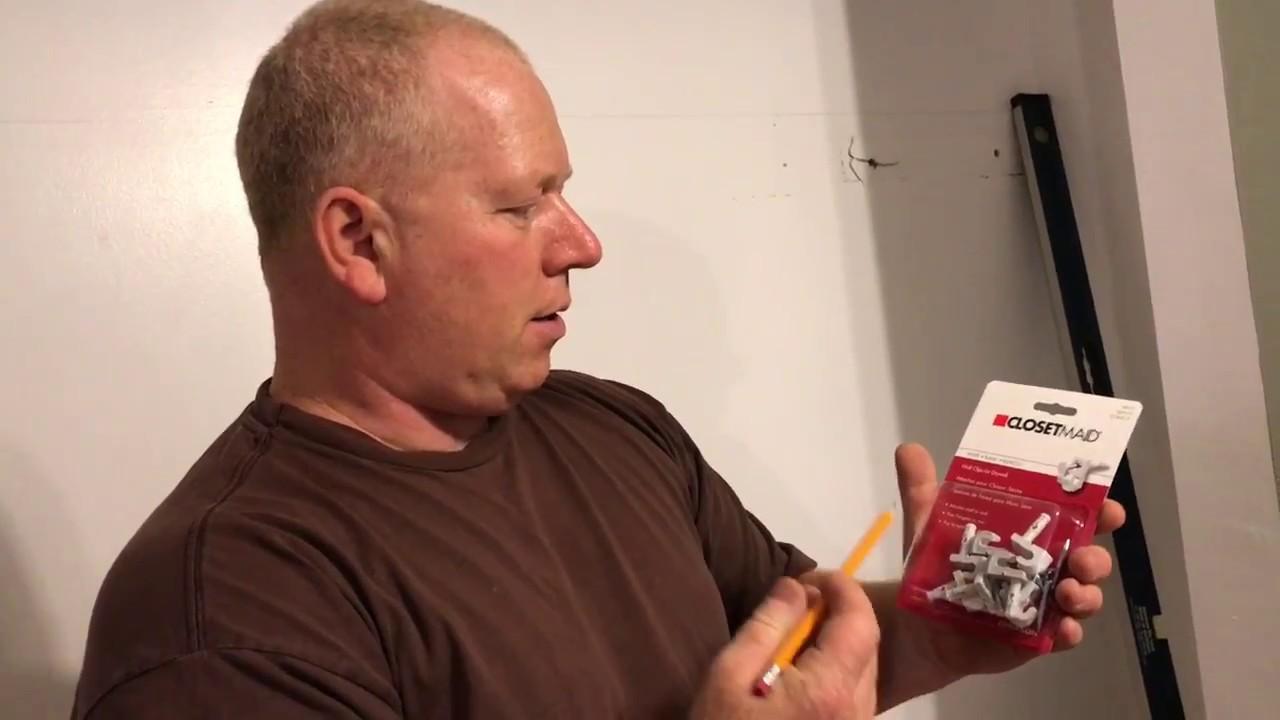 Installing Wire Closet Maid Closet Rod Shelf