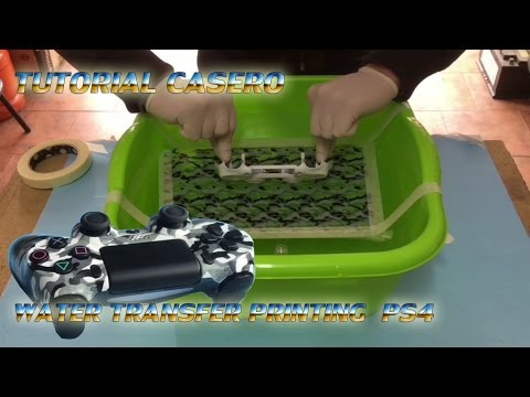 Como Hacer Hidrografia Casera How to WATER TRANSFER PRINTING transferencia al agua ps4 HYDROGRAPHICS