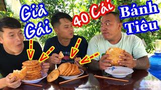 TXTV - Thánh Xàm Thử Thách Ku Đen Và Ku Lẹ Ăn Hết 30 Cái Bánh Tiêu Và Hình Ph.ạt Giả Gái Siêu Hài