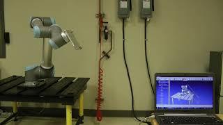 Programação online do UR10 - Robo DK