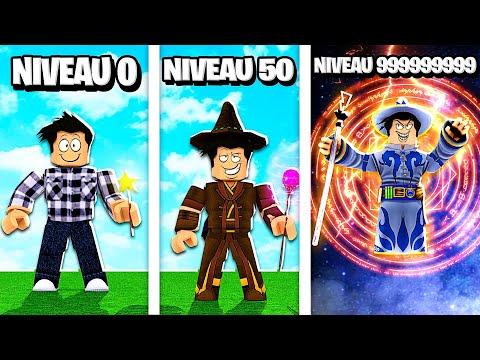 JE DEVIENS UN SORCIER NIVEAU 999,999,999 DANS ROBLOX !