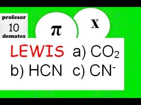 Estructura de Lewis CO2 HCN paso a paso TRUCOS ejercicios 04