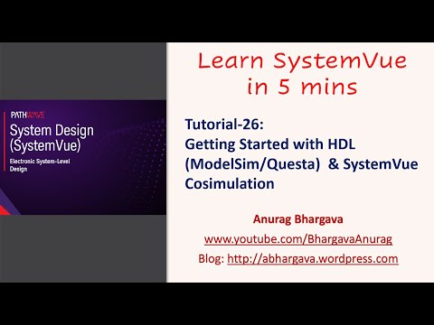Tutorial-26: Getting Started with HDL & SystemVue Cosimulation
