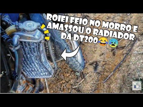 CAÍ FEIO NO MORRO E ESTRAGUEI O RADIADOR DA MINHA MOTO!!/FOMOS EMBORA NO ESCURO!!