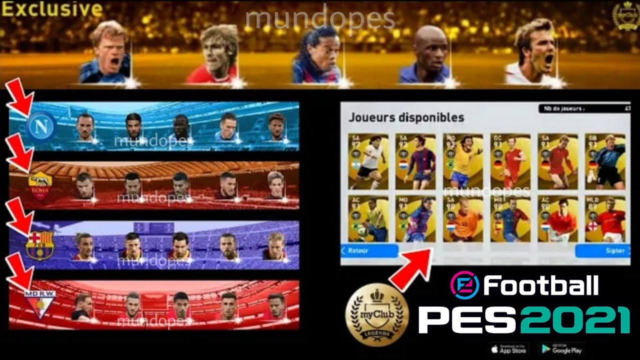 "¡LEYENDA EXCLUSIVA! MARADONA, RONALDINHO, CRUYFF + NUEVO ""BOX DRAW"" + 4 CLUB SELECTION🔥PES 2021"