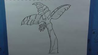 How to Draw a Banana Tree (or Plantain Tree)
