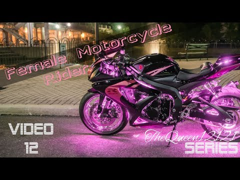 Pink & Black Suzuki GSX-R 750 Motorcycle With Multicolor LEDs