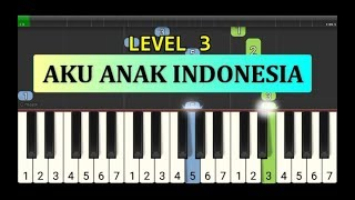 not piano aku anak indonesia piano grade 3 - instrumentalia lagu anak anak