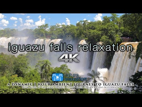 IGUAZU FALLS RELAXATION 4K 1HR Dynamic Ambient Nature Film with