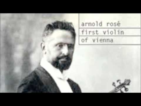 Arnold Rose plays Chopin Nocturne, Op. 9/2 (1910)