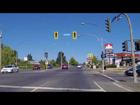 Touring Nanaimo BC Canada - Driving On Island Highway To Departure Bay - 2017