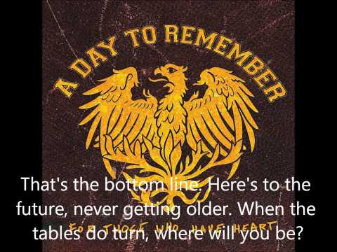 01 A Day to Remeber - Fast Forward to 2012 - Lyrics
