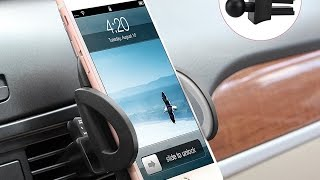 Universal Smartphones Car Air Vent Mount Holder Cradle Compatible with iPhone and Samsung Galaxy