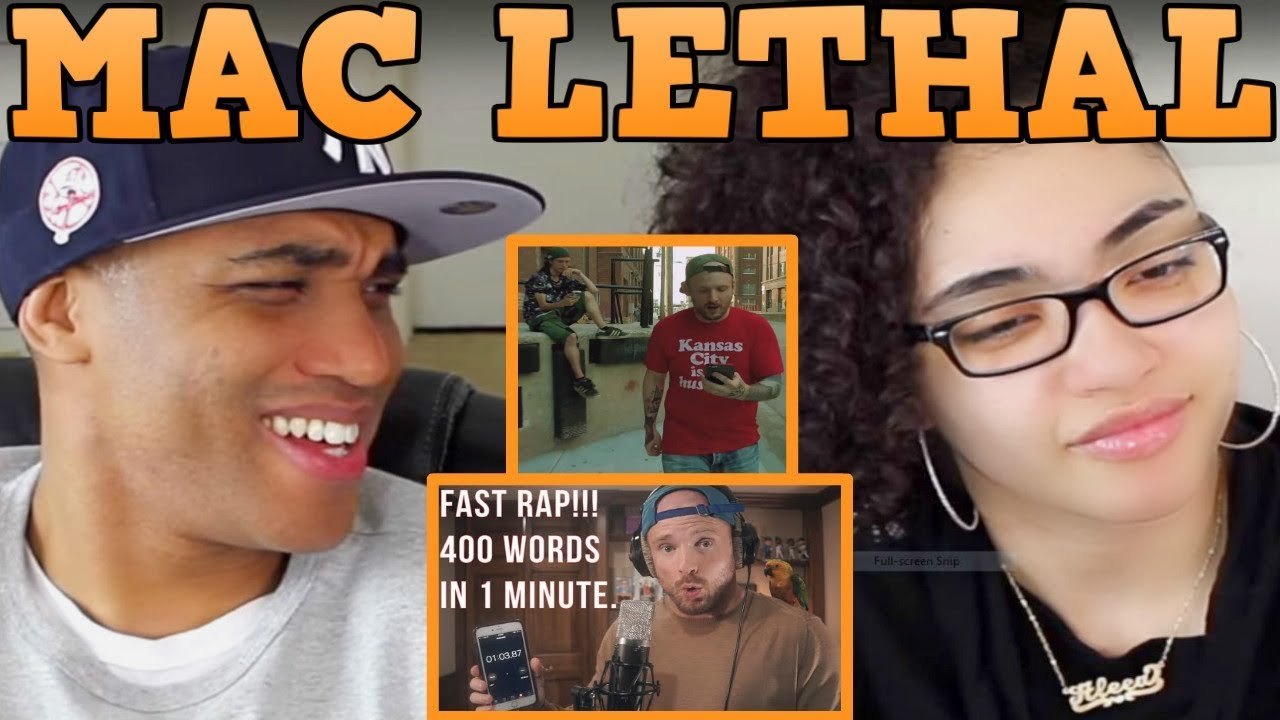Mac Lethal FAST RAP 400 words in 1 minute REACTION | Mac Lethal Til the Casket Drops REACTION