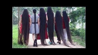 OMG ! Most Beautiful Extremely Long Hair Girls In The World
