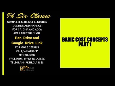 BASIC COST CONCEPTS SERIES, LECTURE 1- DIRECT AND INDIRECT COSTS
