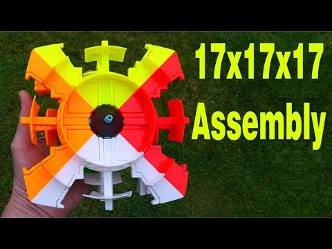 Assembling a Yuxin 17x17x17 Rubik's Cube (17x17 twisty puzzle)(speeded up version)