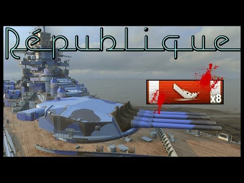 The Republic 241K DMG and 8 kill from ASIA || World of Warships