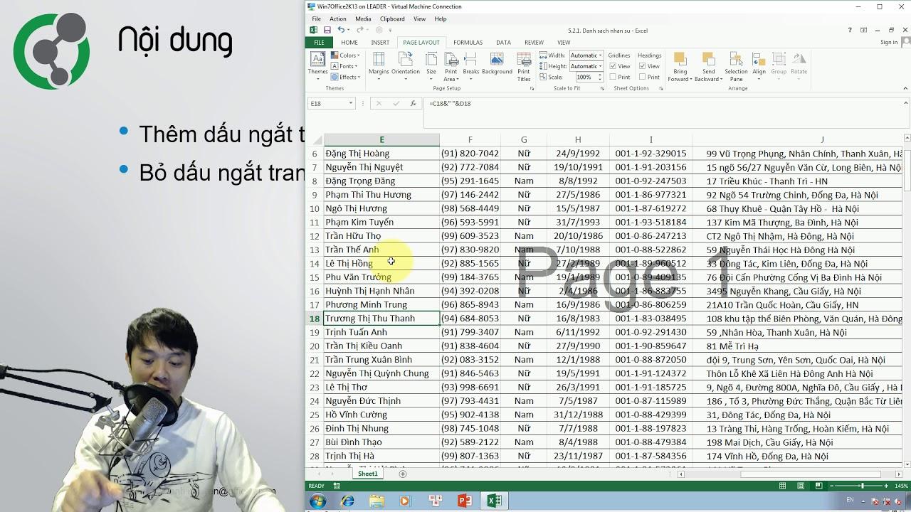 Học Excel: 5.2.1. Sử dụng dấu ngắt trang (Page Break)