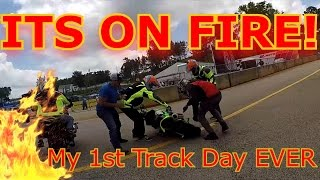 Race Track VS Stunt Riders!  Road Atlanta.  My First Track Day Experience!