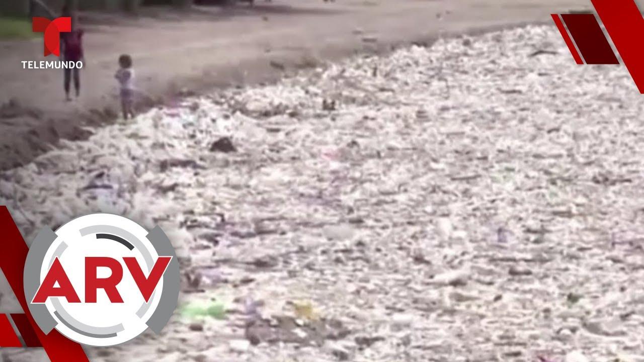 Toneladas de basura invaden las playas de Honduras   Al Rojo Vivo   Telemundo