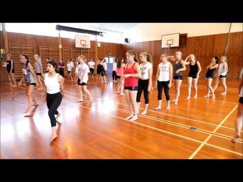 Tauranga Girls College dance workshop with the New Zealand Dance company