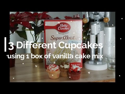 How To Make 3 Different Cupcakes, Using 1 Box Of Vanilla Cake Mix