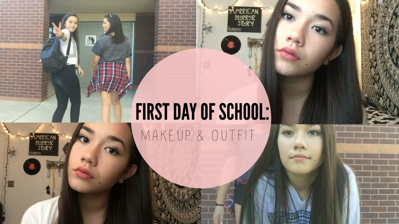 First Day Of 8th Grade Makeup Outfit Back To School Youtube