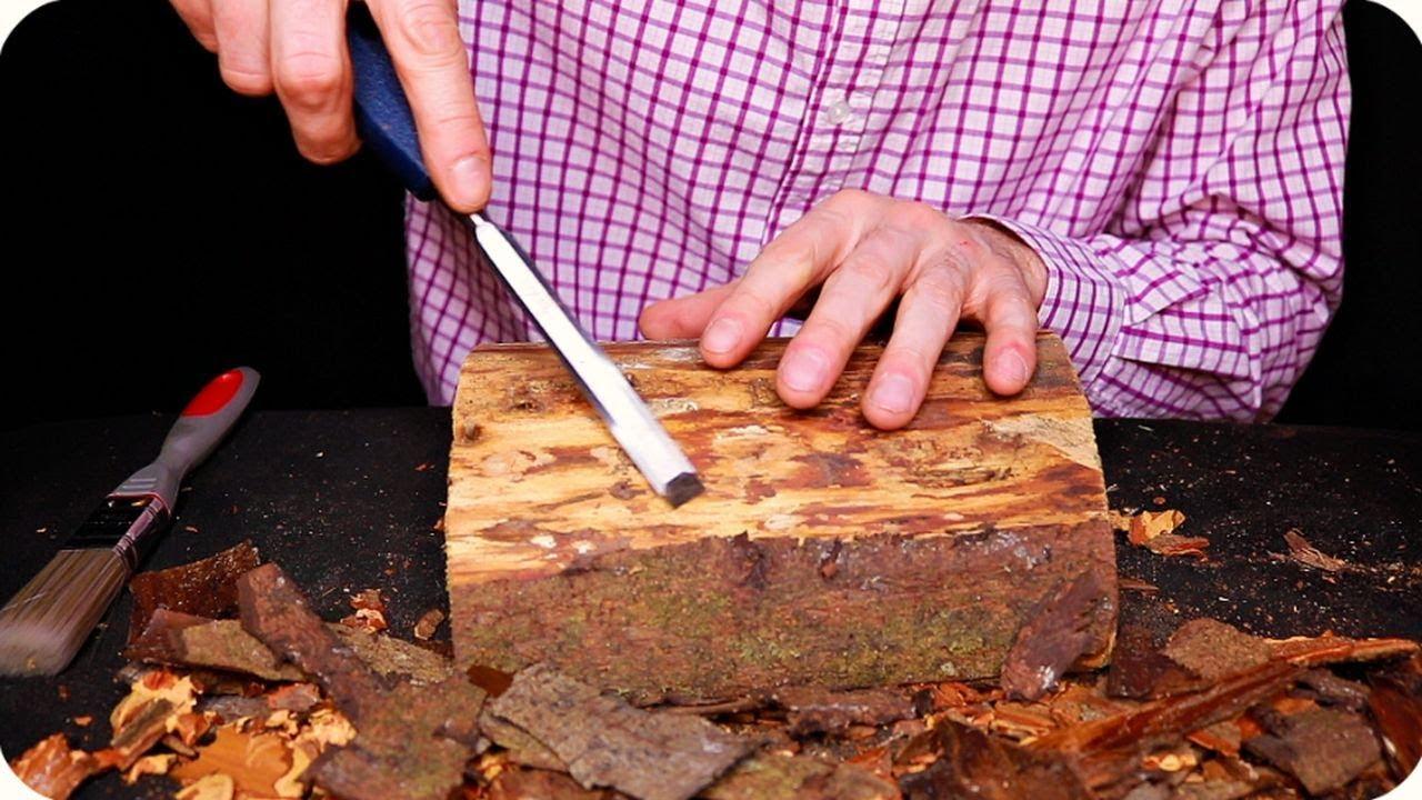 ASMR Bark Removal (No Talking)