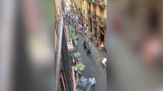 Video Raw: Barcelona Pedestrians Flee Near Van Attack download MP3, 3GP, MP4, WEBM, AVI, FLV Agustus 2017