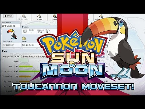 Toucannon Moveset Guide! How to use Toucannon! Pokemon Sun and Moon! w/ PokeaimMD!