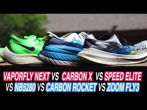 the-ultimate-carbon-plate-racing-shoe-comparison!-nike-vaporfly-next-zoom-fly-3-hoka-carbon-x-&-more