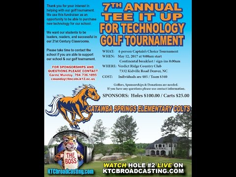 2017 Catawba Springs Elementary School Tee It Up for Technology Golf Tournament