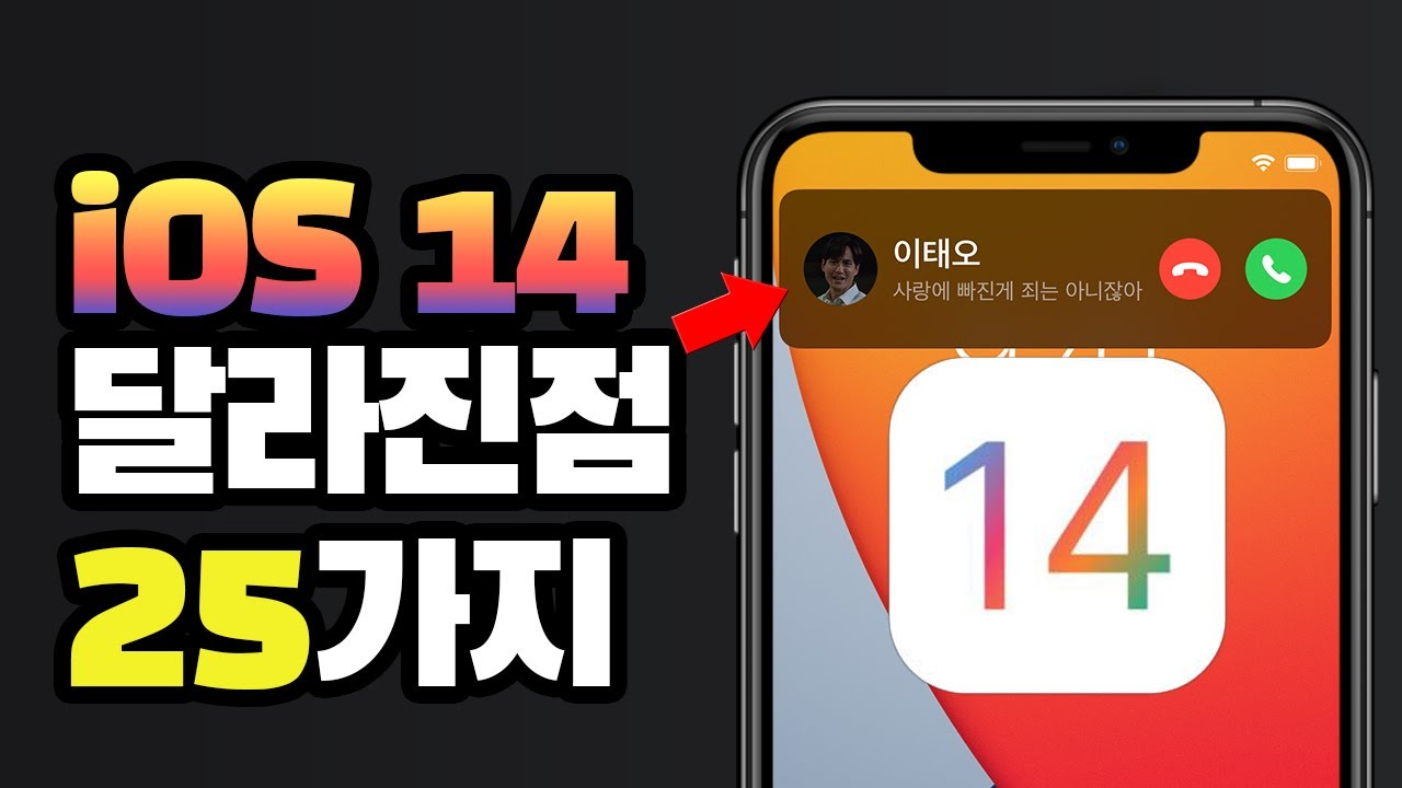 아이폰의 차세대 iOS 14 / 달라진 점 25가지를 모두 파헤쳐보자