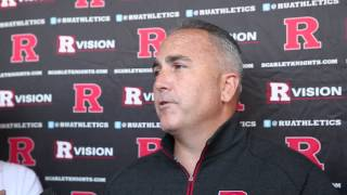 Rutgers Football Coach Kyle Flood Talks About Team Goals and Players