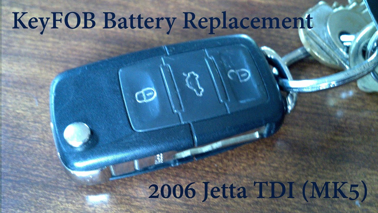 Keyfob Battery Replacement Vw Jetta