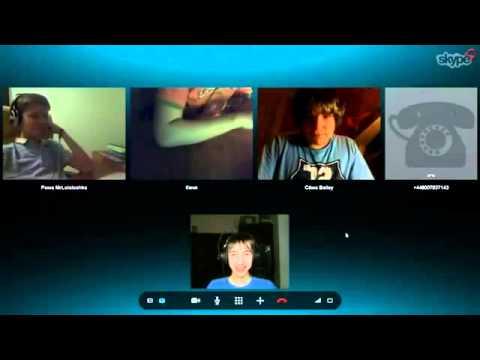 Лололошка-в конфе с друзьями в skype