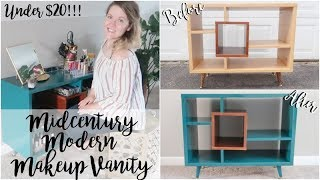 THRIFTED FURNITURE | MAKEOVER | MIDCENTURY MODERN MAKEUP VANITY!!!