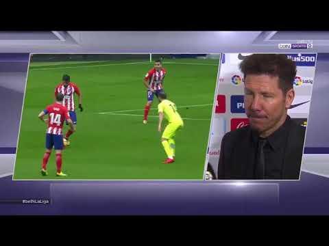 """Simeone sobre la expulsión de Diego Costa: """"Hay que aceptar las reglas del juego""""."""