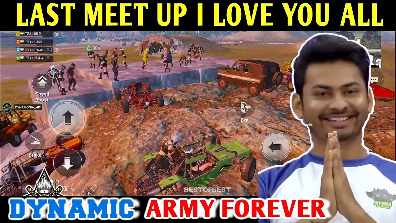 DYNAMO - LAST MEET UP IN PUBG MOBILE, I LOVE YOU ALL | PUBG MOBILE BANNED | BEST OF BEST